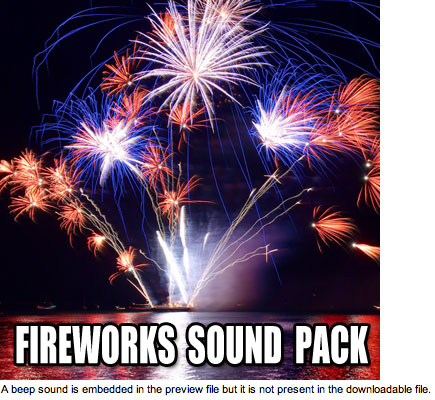 Product picture Fireworks Sound Effects - 30 Sound Pack